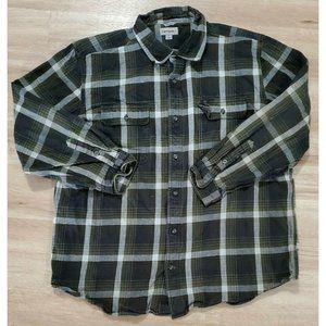 Carhartt Mens Hubbard Green Plaid Flannel Shirt
